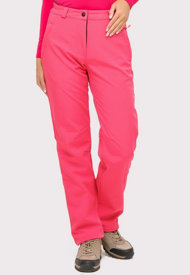 Купить оптом Брюки женские большого размера розового цвета  1852-1R в Перми