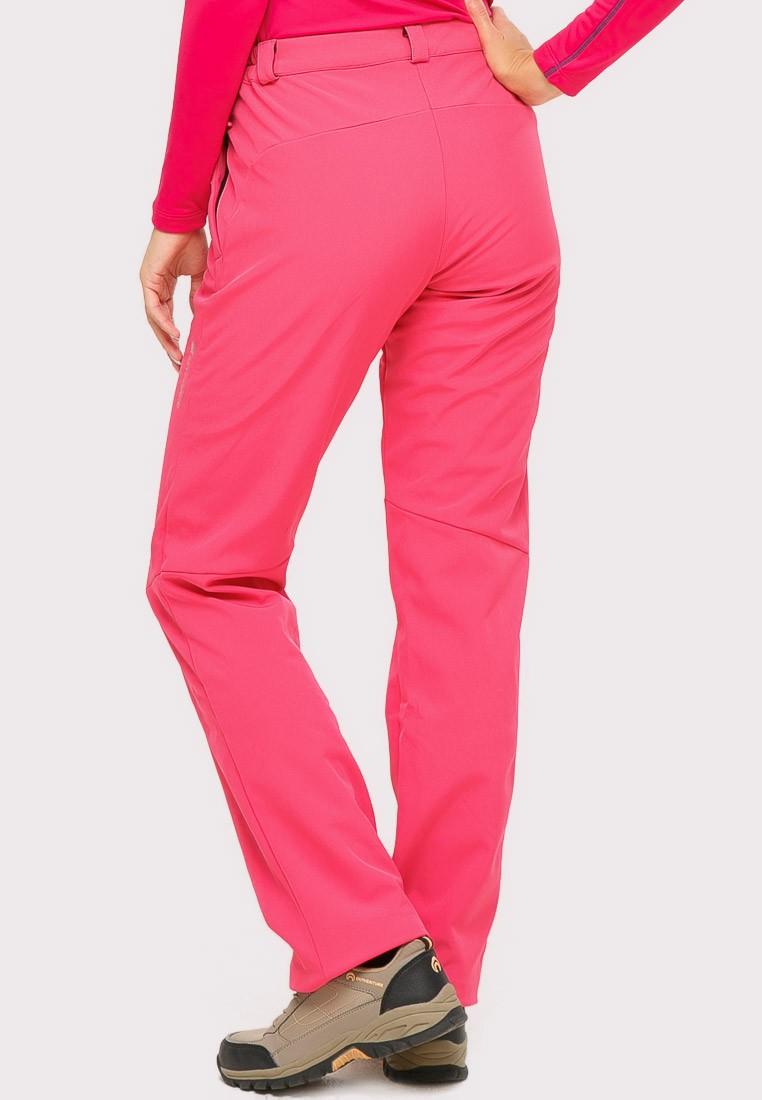 Купить оптом Брюки женские большого размера розового цвета  1852-1R в Екатеринбурге