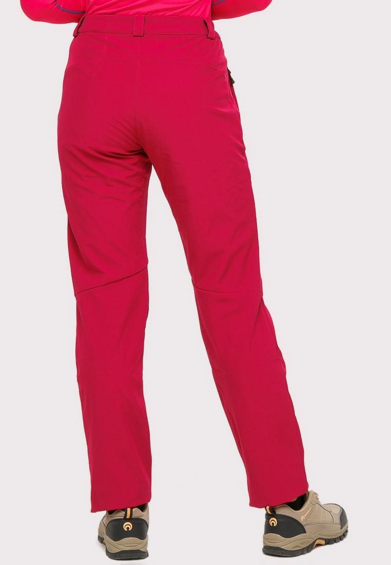 Купить оптом Брюки женские большого размера бордового цвета  1852-1Bo в Самаре
