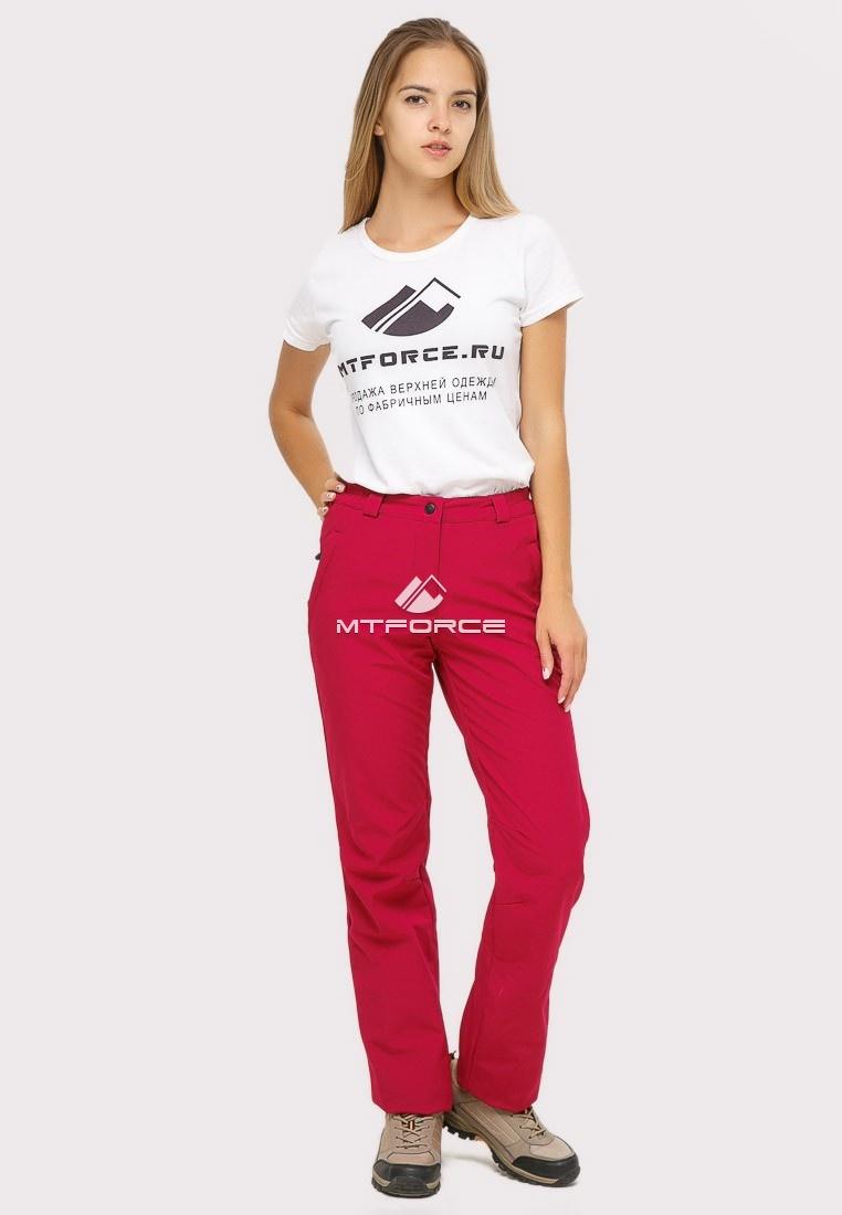 Купить оптом Брюки женские из ткани softshell бордового цвета 1851Bo в Ростове-на-Дону