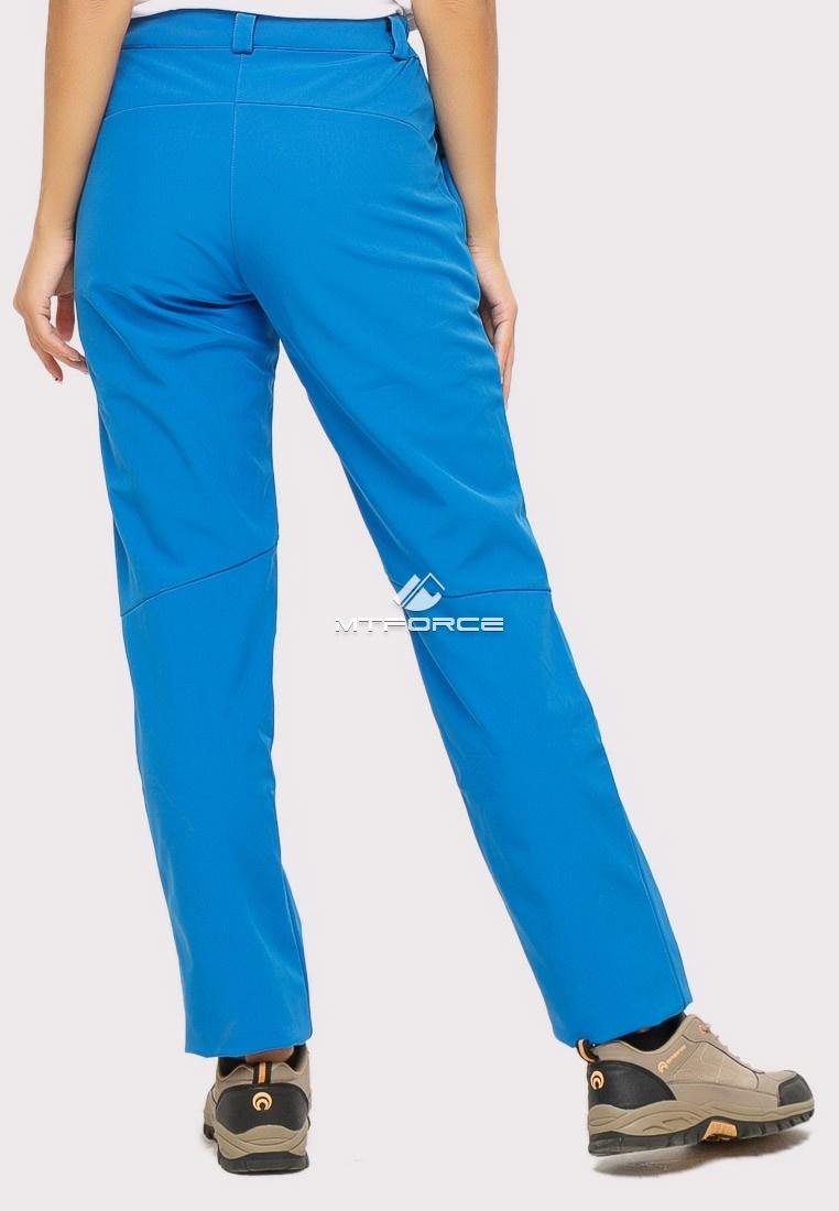 Купить оптом Брюки женские из ткани softshell синего цвета 1851S в Екатеринбурге