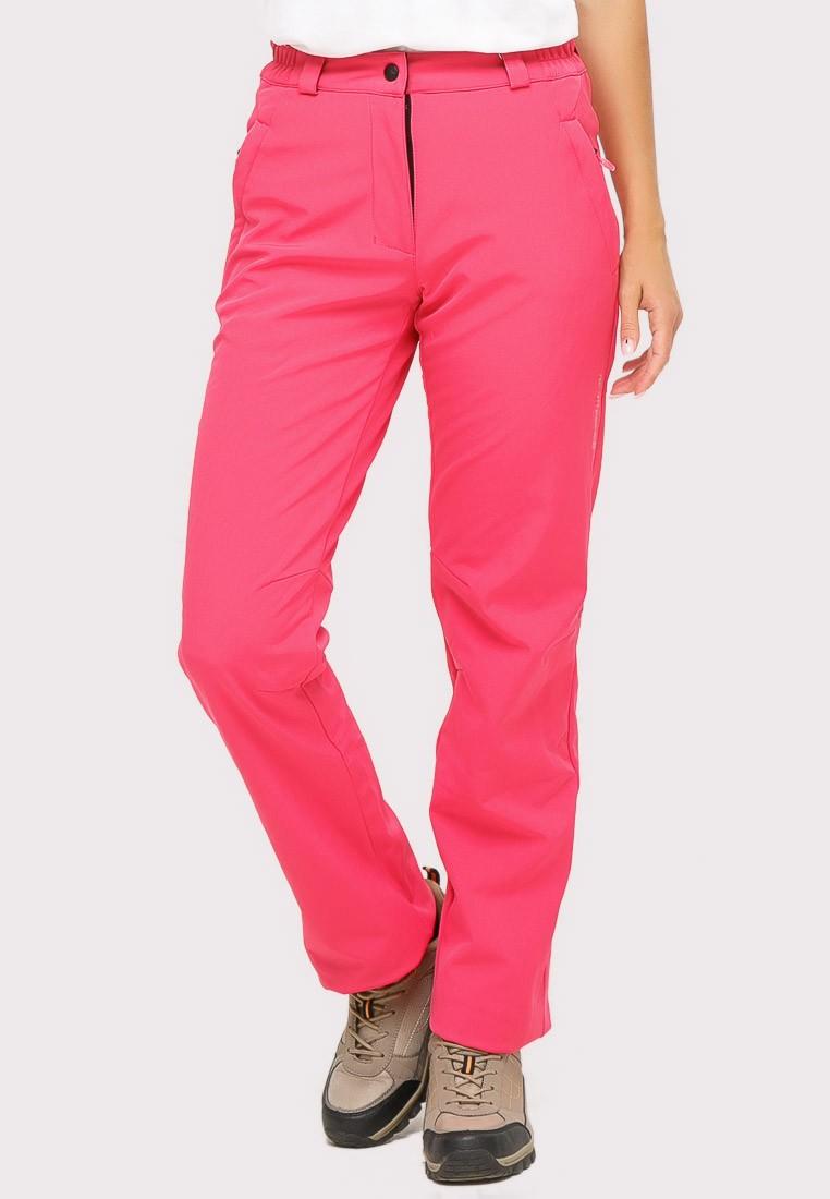 Купить оптом Брюки женские из ткани softshell розового цвета 3820R в Казани
