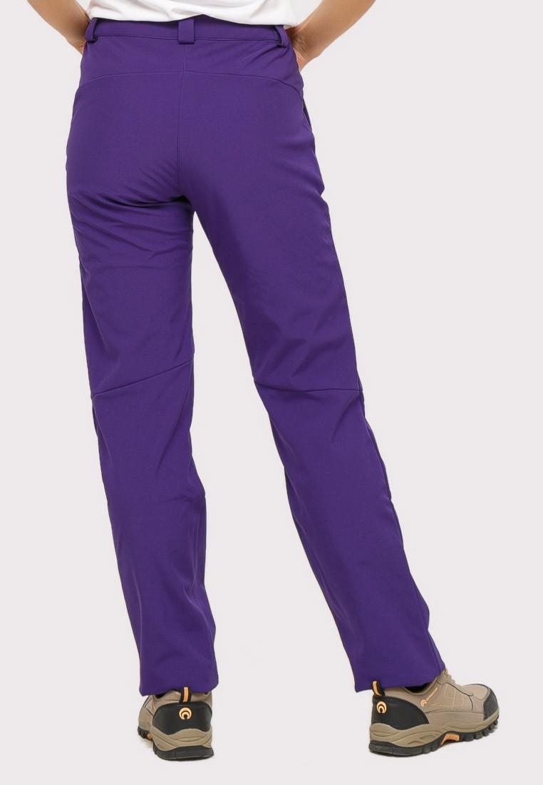 Купить оптом Брюки женские из ткани softshell фиолетового цвета 1851F в Санкт-Петербурге