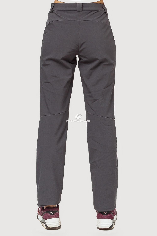 Купить оптом Брюки женские из ткани softshell темно-серого цвета 1851TC в Сочи
