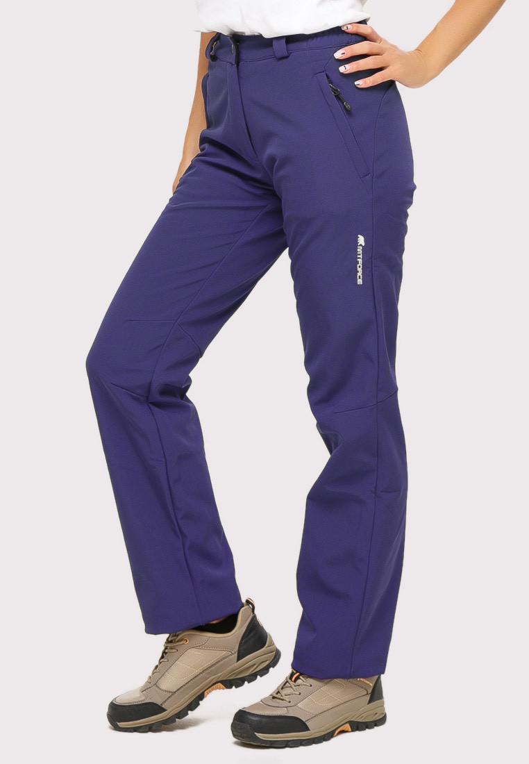 Купить оптом Брюки женские из ткани softshell темно-фиолетового цвета 1851TF в Воронеже