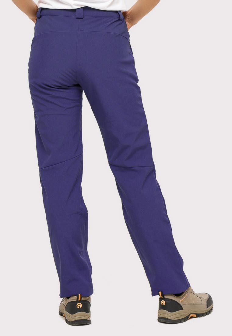 Купить оптом Брюки женские из ткани softshell темно-фиолетового цвета 1851TF в  Красноярске