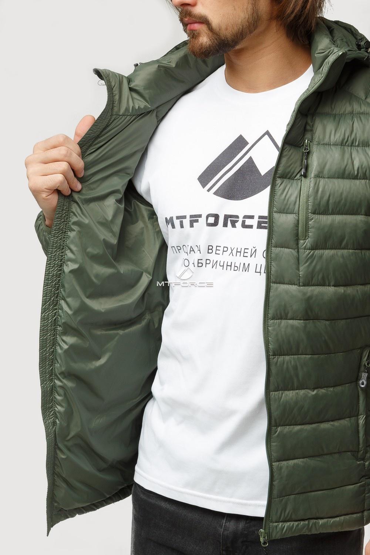 Купить оптом Куртка мужская стеганная цвета хаки 1852Kh в Екатеринбурге