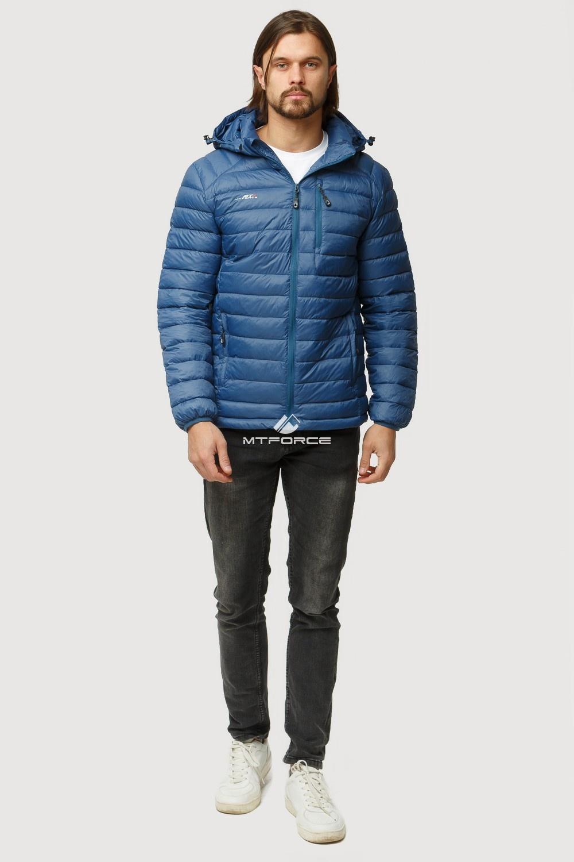 Купить                                      оптом Куртка мужская стеганная синего цвета 1852S