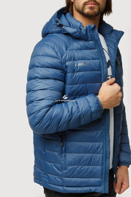 Купить оптом Куртка мужская стеганная синего цвета 1852S в Уфе