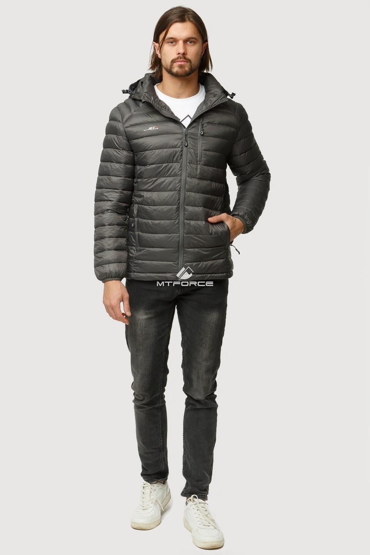 Купить оптом Куртка мужская стеганная темно-серого цвета 1852TC