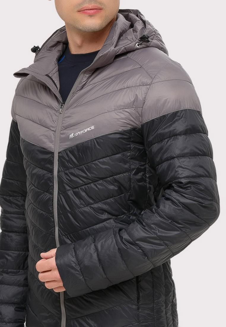 Купить оптом Куртка мужская стеганная черного цвета 1853Ch