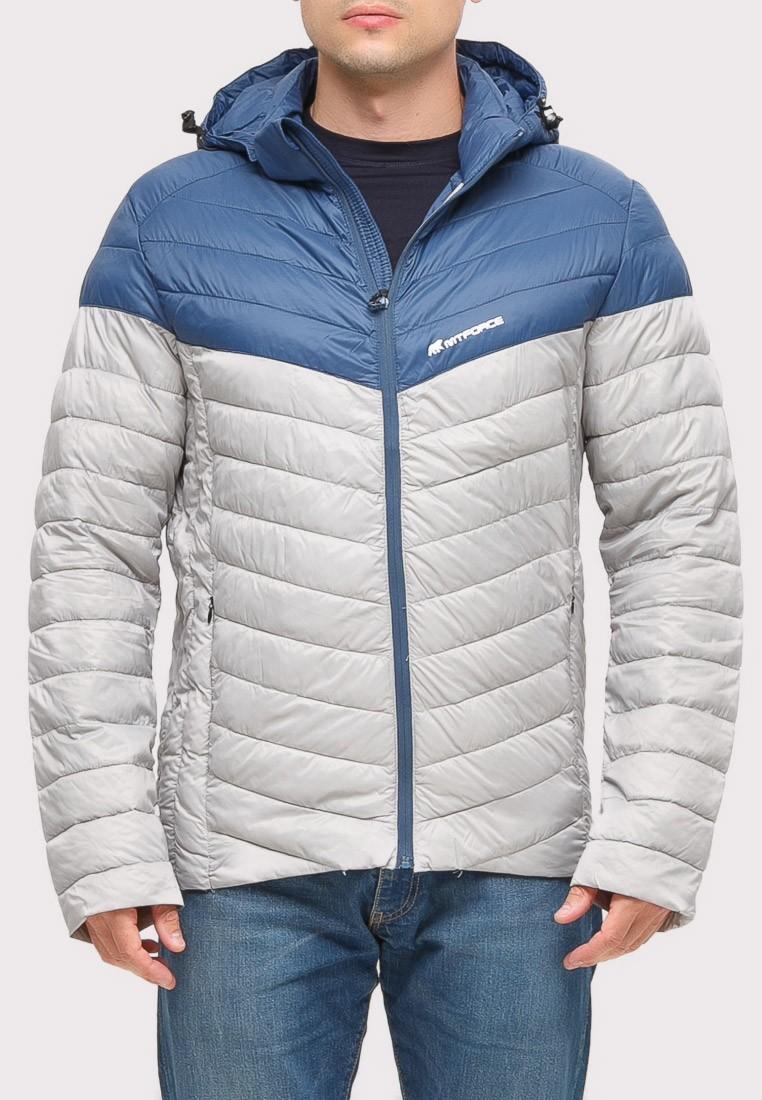 Купить оптом Куртка мужская стеганная светло-серого цвета 1853SS