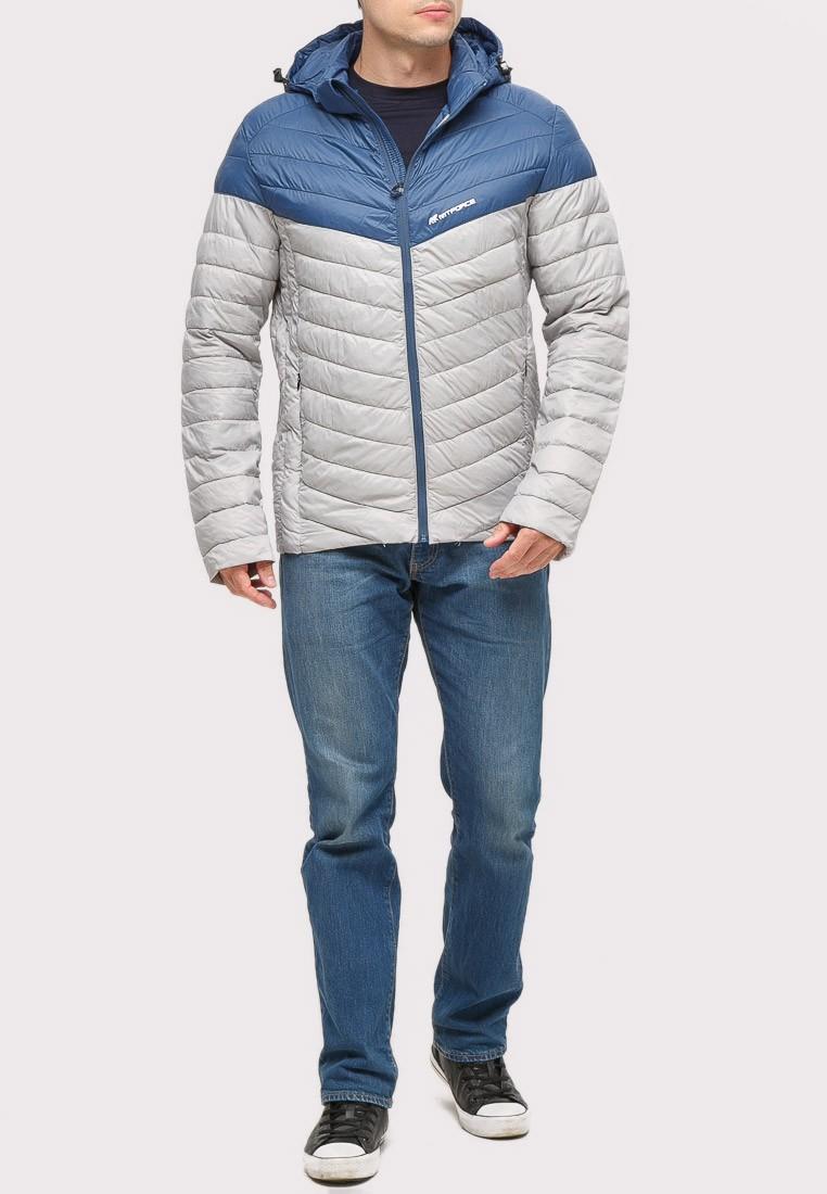 Купить оптом Куртка мужская стеганная светло-серого цвета 1853SS в Воронеже