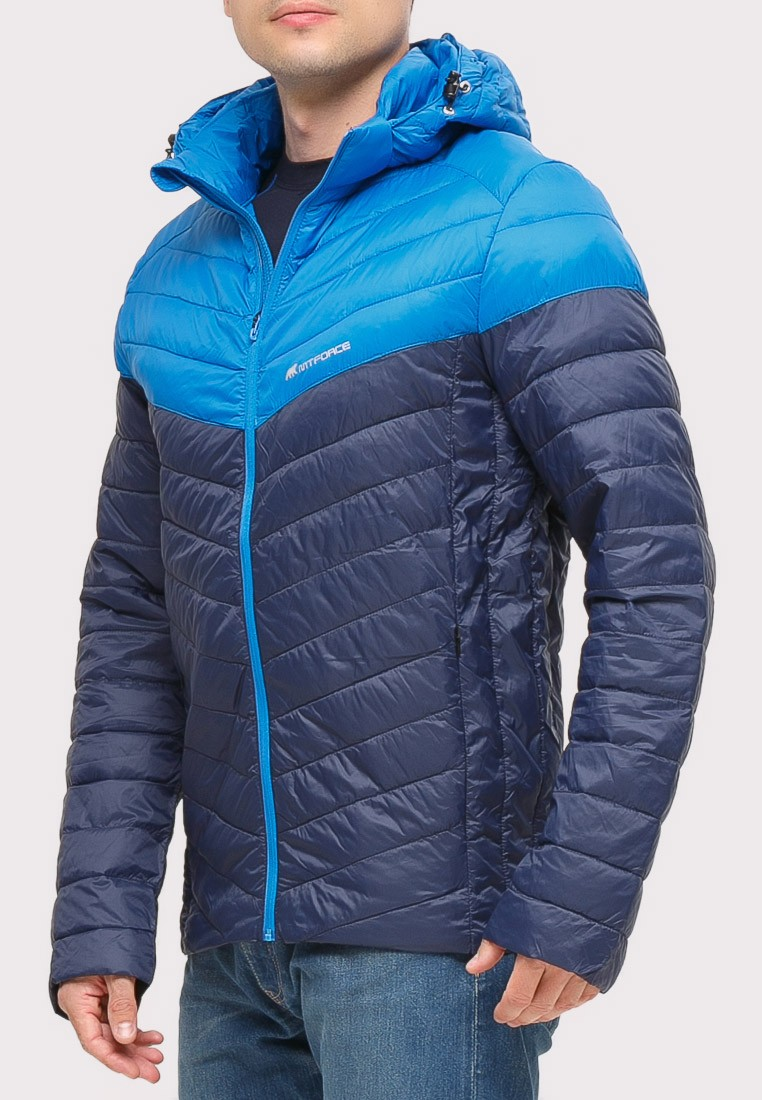 Купить оптом Куртка мужская стеганная темно-синего цвета 1853TS в Казани