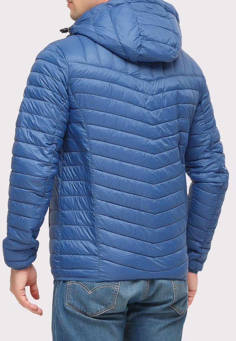 Купить оптом Куртка мужская стеганная синего цвета 1858S