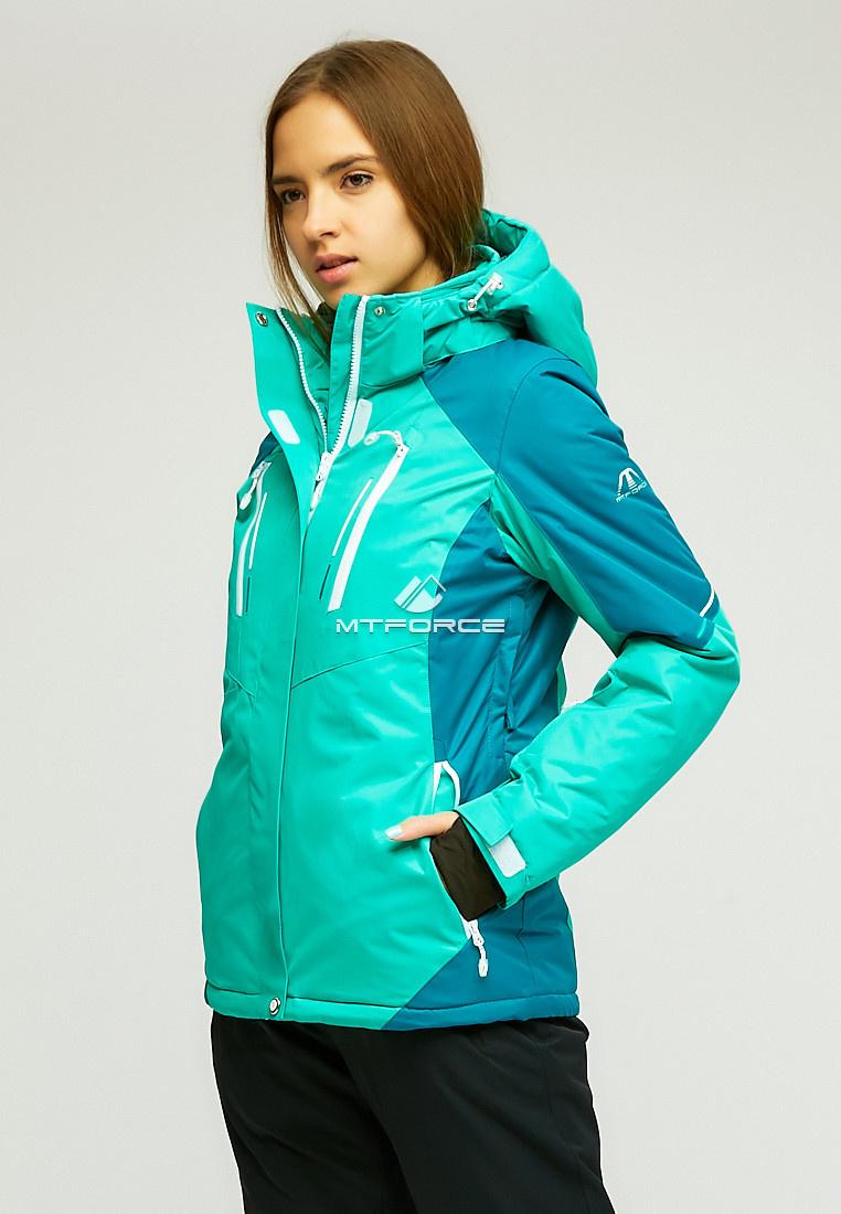 Купить оптом Женская зимняя горнолыжная куртка зеленого цвета 1861Z