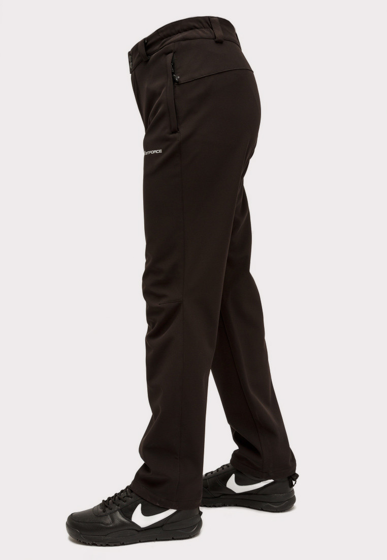 Купить оптом Брюки мужские из ткани softshell черного цвета  1868Ch в Волгоградке