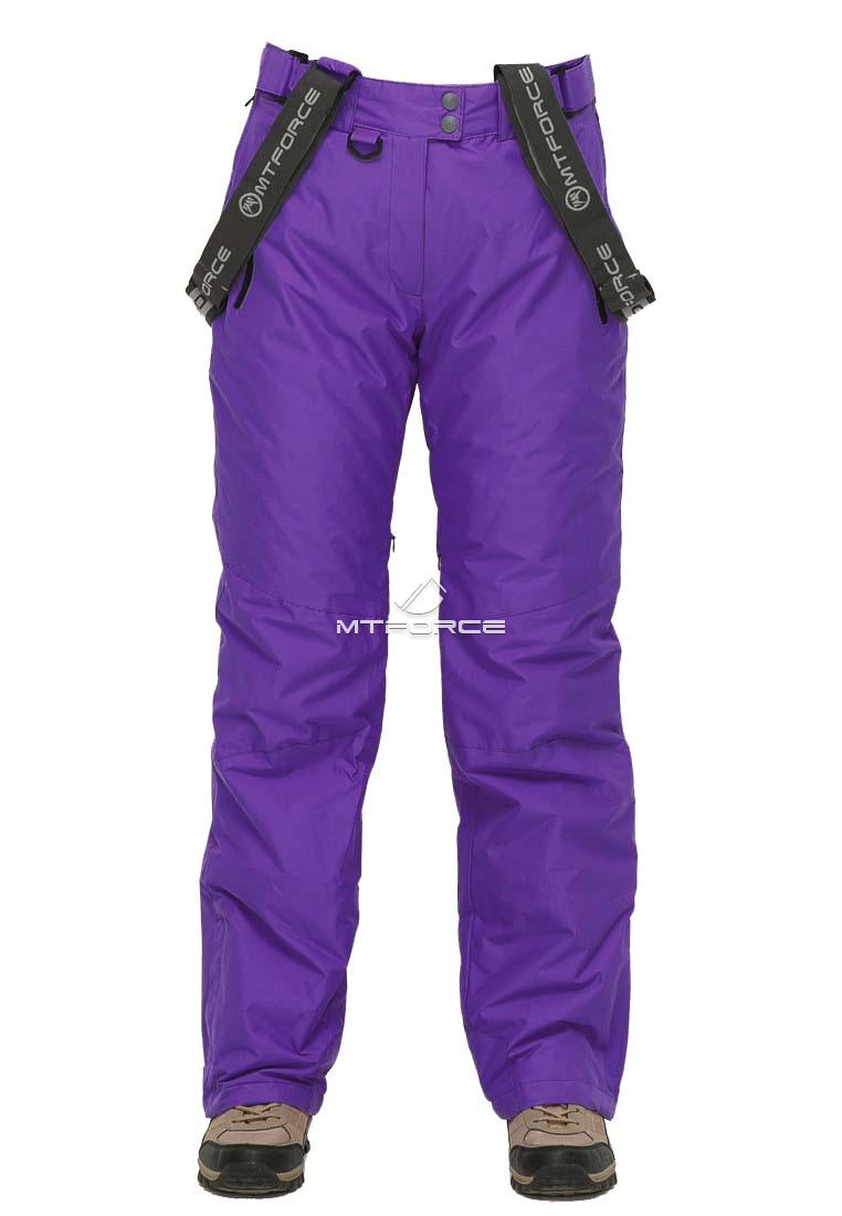 Купить оптом Брюки горнолыжные женские большого размера фиолетового цвета 1878F в Казани