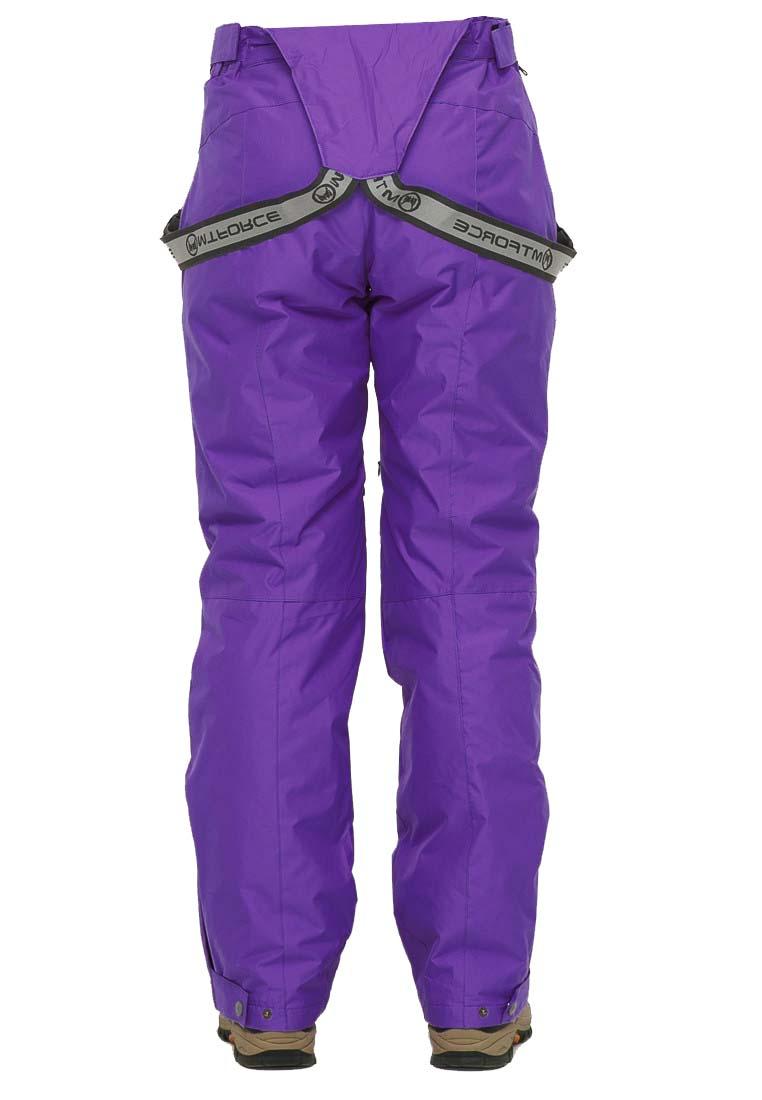 Купить оптом Брюки горнолыжные женские большого размера фиолетового цвета 1878F в Сочи