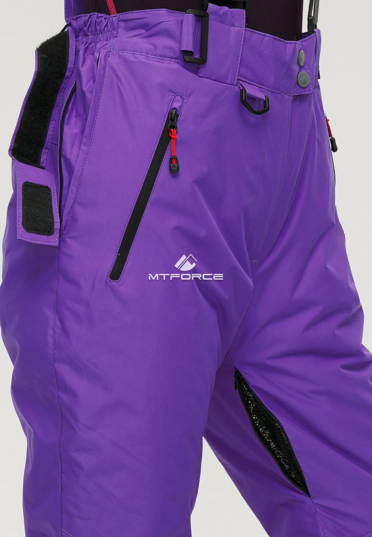 Купить оптом Брюки горнолыжные женские большого размера фиолетового цвета 1878F в Волгоградке