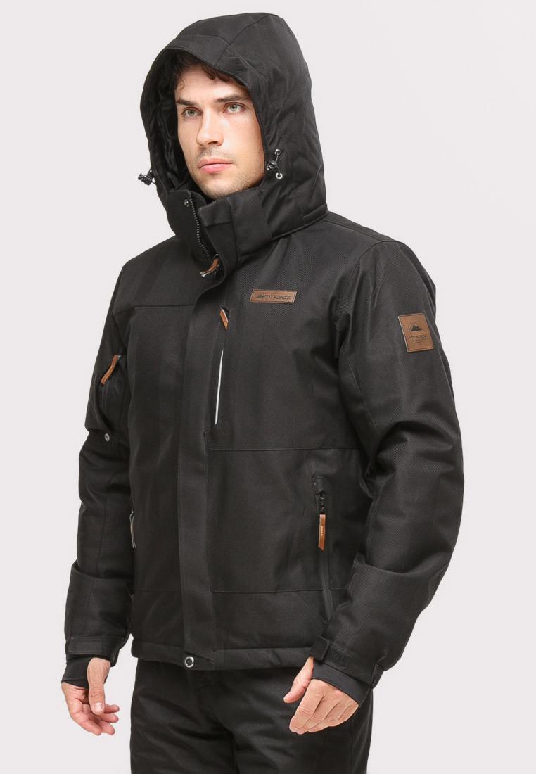 Купить оптом Костюм горнолыжный мужской черного цвета 01901Ch в Санкт-Петербурге