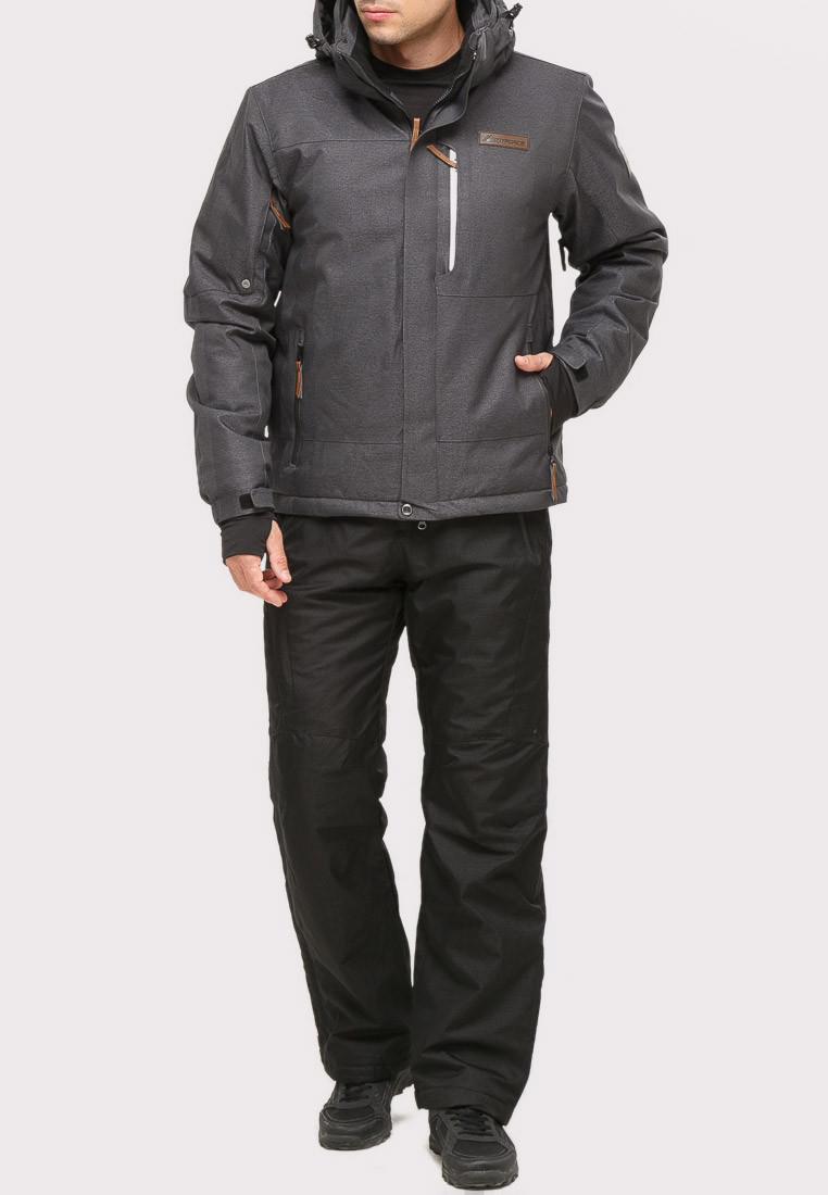 Купить оптом Костюм горнолыжный мужской темно-серого цвета 01901TC в  Красноярске