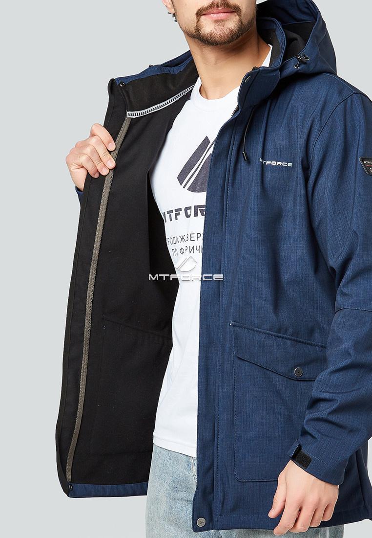 Купить оптом Парка softshell мужская темно-синего цвета 1904TS