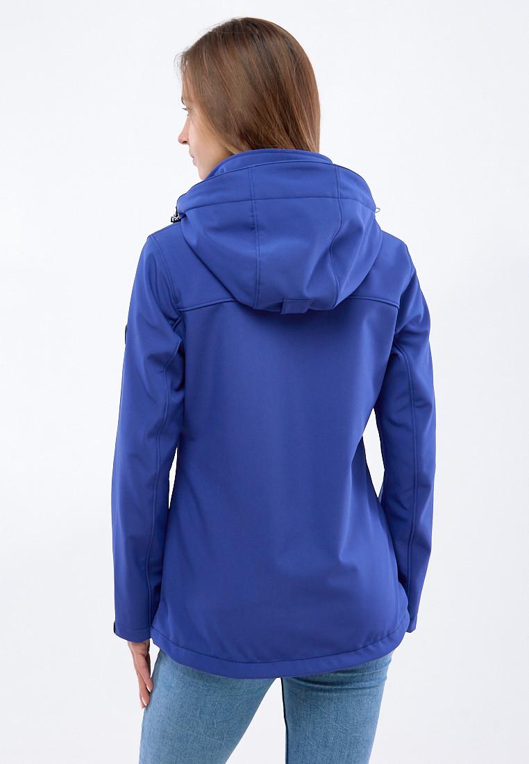 Купить оптом Ветровка softshell женская синего цвета 1907TS в Самаре