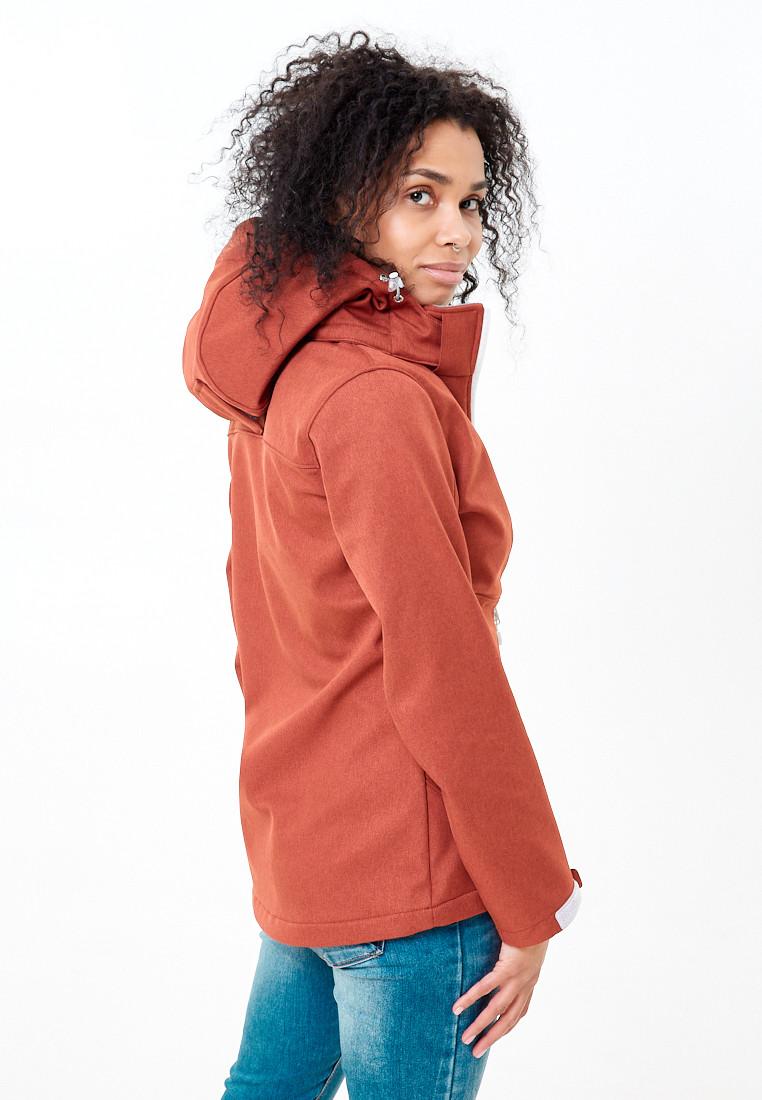 Купить оптом Ветровка softshell женская оранжевого цвета 1907O