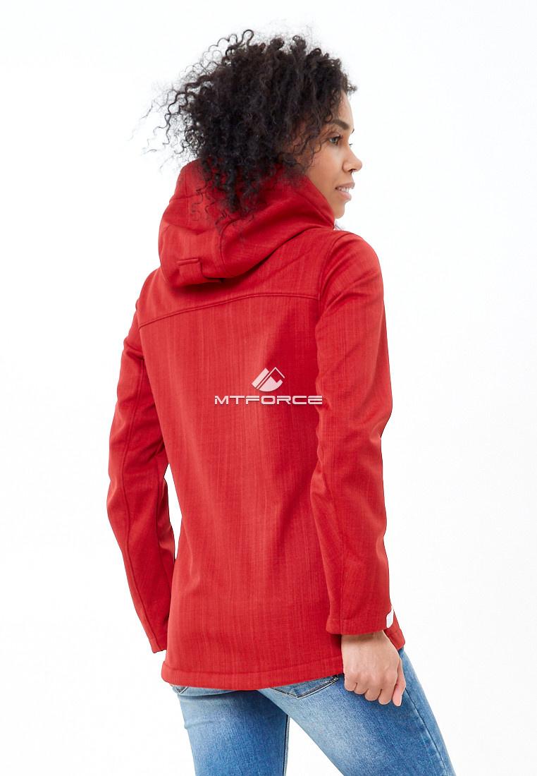 Купить оптом Ветровка softshell женская красного цвета 1907Kr в Омске