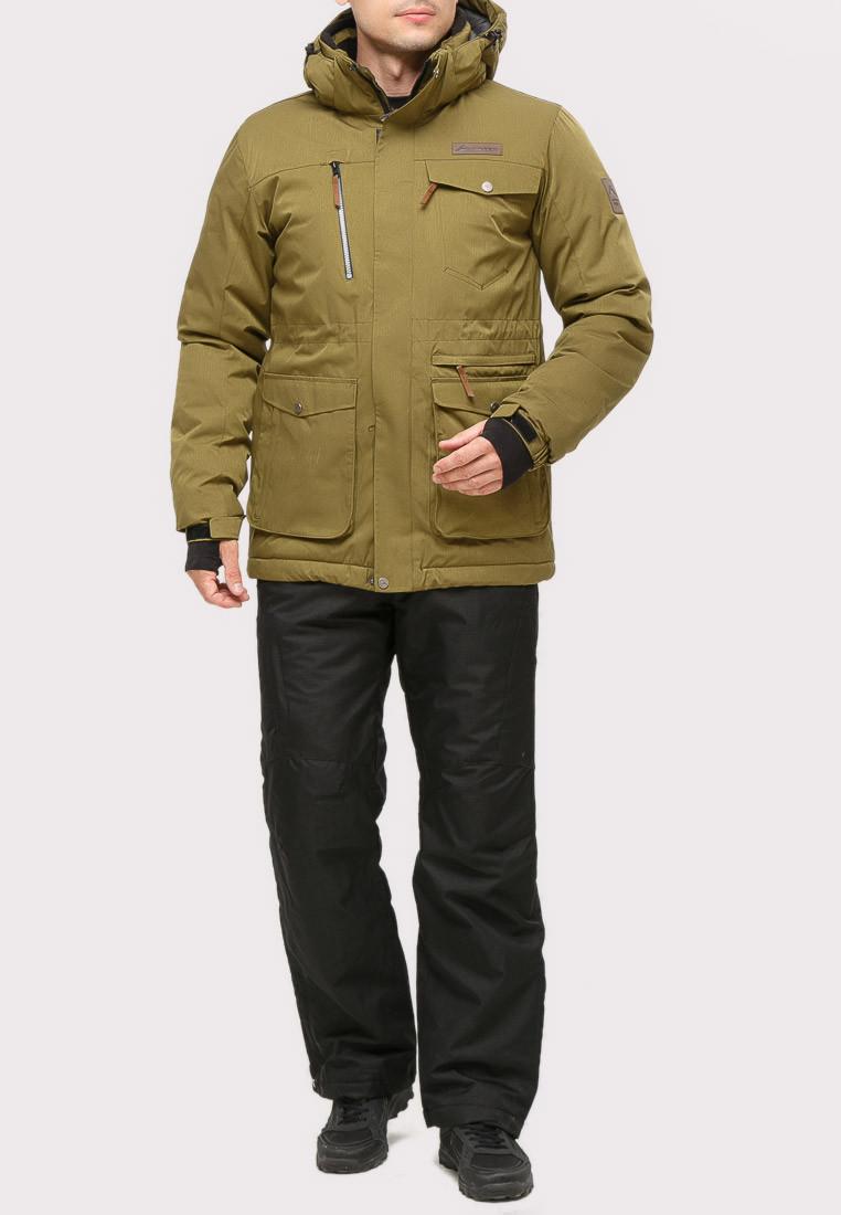 Купить оптом Костюм горнолыжный мужской цвета хаки  01910Kh в Санкт-Петербурге