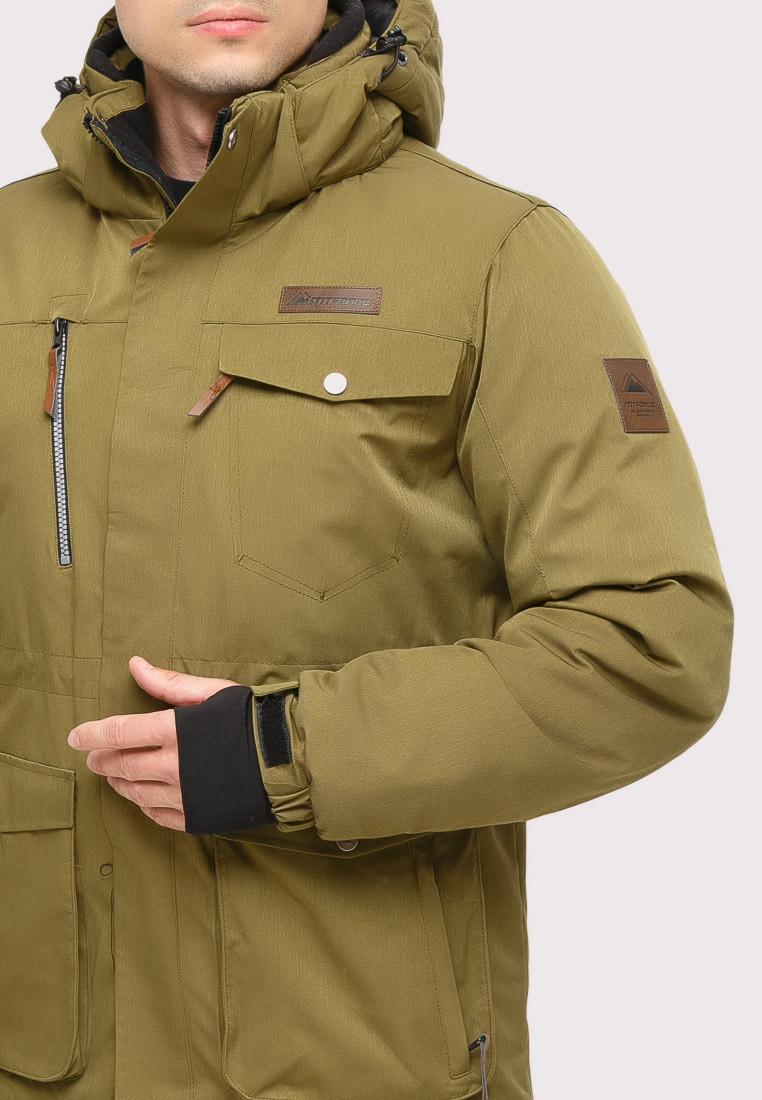 Купить оптом Костюм горнолыжный мужской цвета хаки  01910Kh в Перми