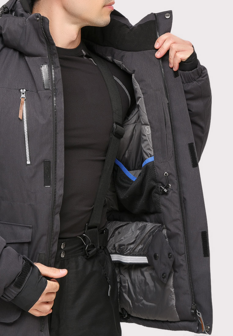 Купить оптом Костюм горнолыжный мужской темно-серого цвета  01910TC