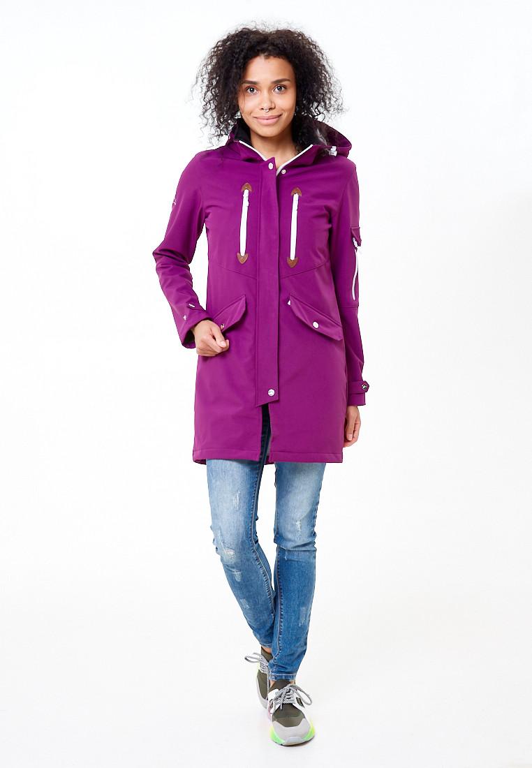 Купить оптом Парка женская осенняя весенняя softshell фиолетового цвета 1911-1F