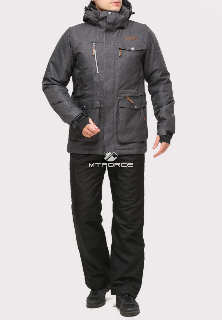 Купить оптом Костюм горнолыжный мужской темно-серого цвета 01911TС в Нижнем Новгороде
