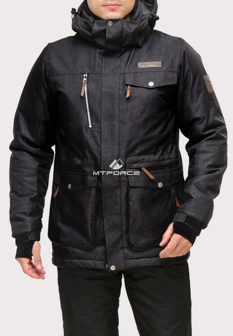 Купить оптом Костюм горнолыжный мужской черного цвета 01911Ch в Воронеже