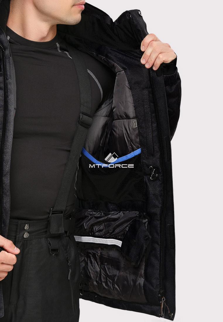 Купить оптом Куртка горнолыжная мужская черного цвета 1911Ch в Самаре