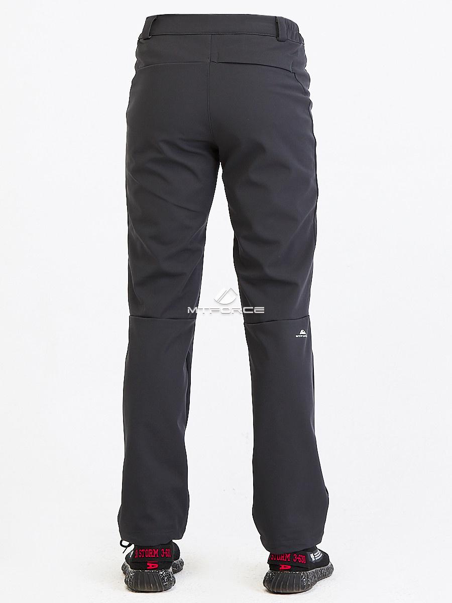 Купить оптом Брюки мужские из ткани softshell темно-серого цвета  19121TC в Сочи
