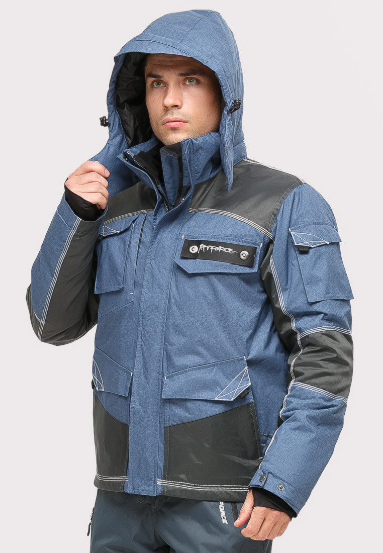 Купить оптом Костюм горнолыжный мужской голубого цвета 01912Gl в Воронеже
