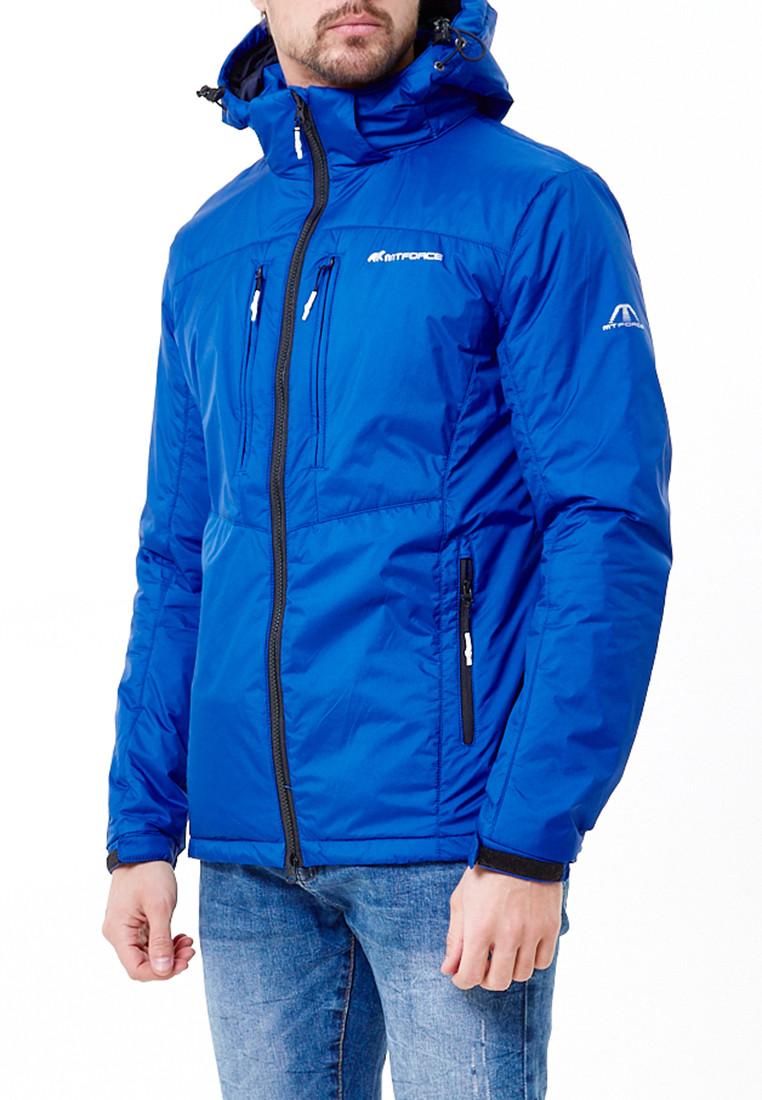 Купить оптом Молодежная куртка мужская синего цвета 1913S в Санкт-Петербурге