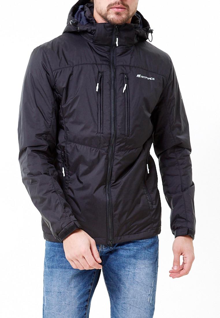 Купить оптом Молодежная куртка мужская черного цвета 1913Ch в Казани
