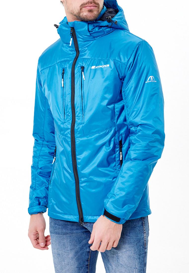 Купить оптом Молодежная куртка мужская голубого цвета 1913Gl