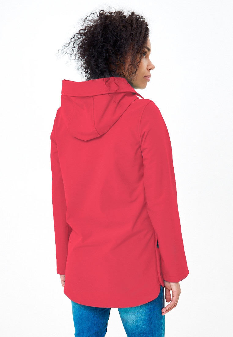 Купить оптом Анорак softshell женский малинового цвета 1914M в Перми