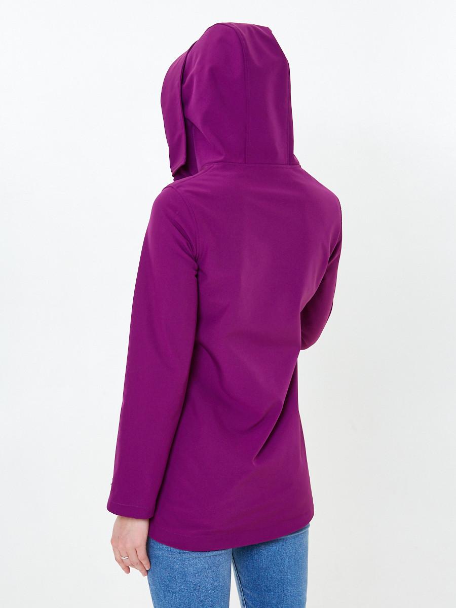 Купить оптом Анорак softshell женский фиолетовго цвета 1914F в Нижнем Новгороде