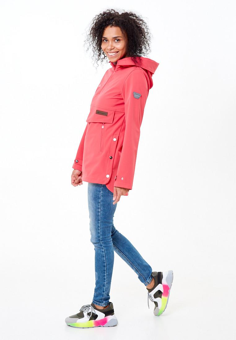 Купить оптом Анорак softshell женский розового цвета 1914R в  Красноярске