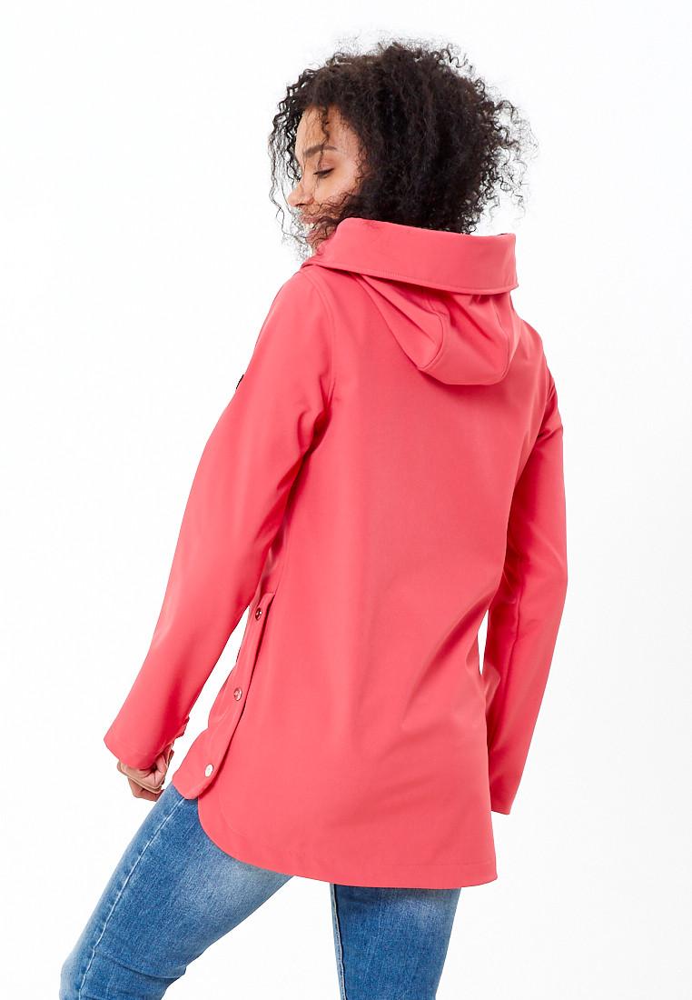 Купить оптом Анорак softshell женский розового цвета 1914R в Казани