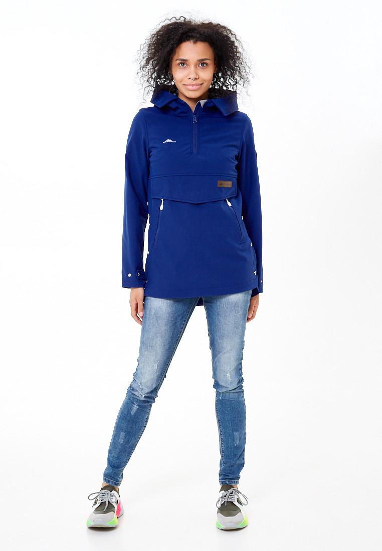 Купить оптом Анорак softshell женский темно-синего цвета 1914TS в Екатеринбурге