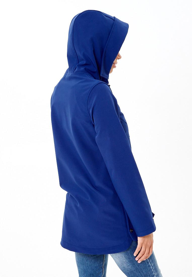 Купить оптом Анорак softshell женский темно-синего цвета 1914TS