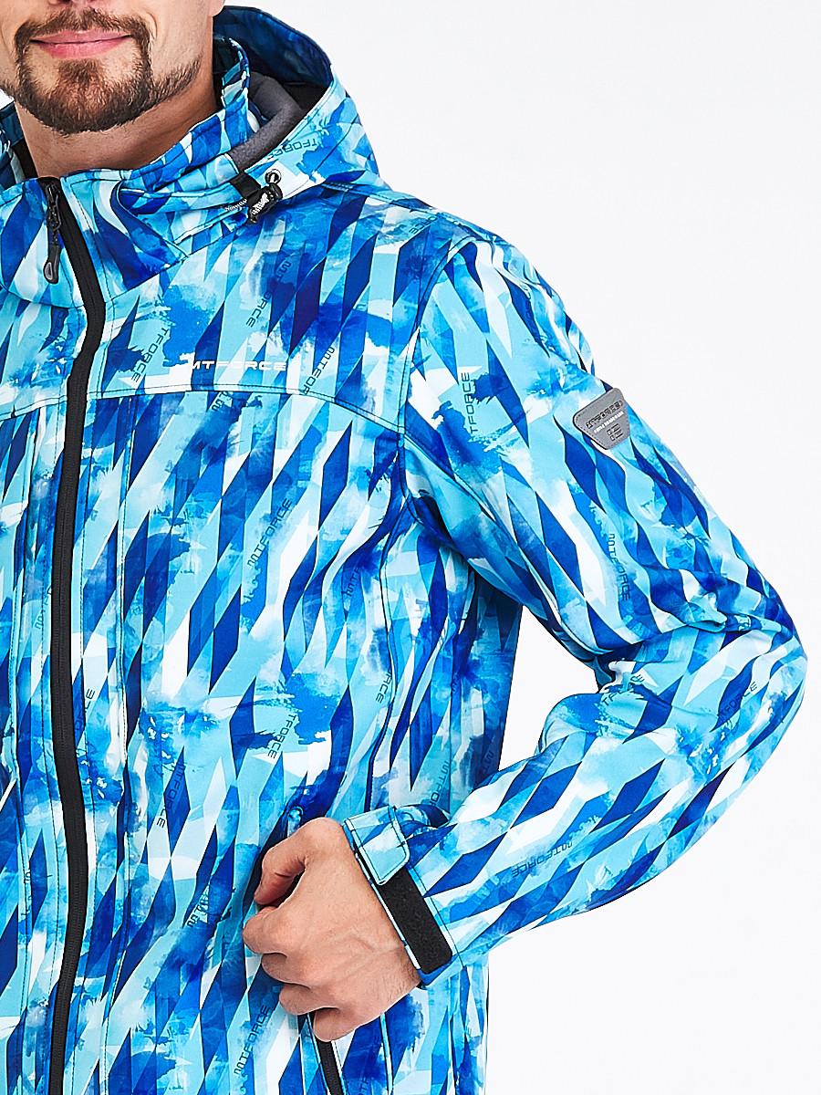 Купить оптом Ветровка softshell мужская синего цвета 1915S