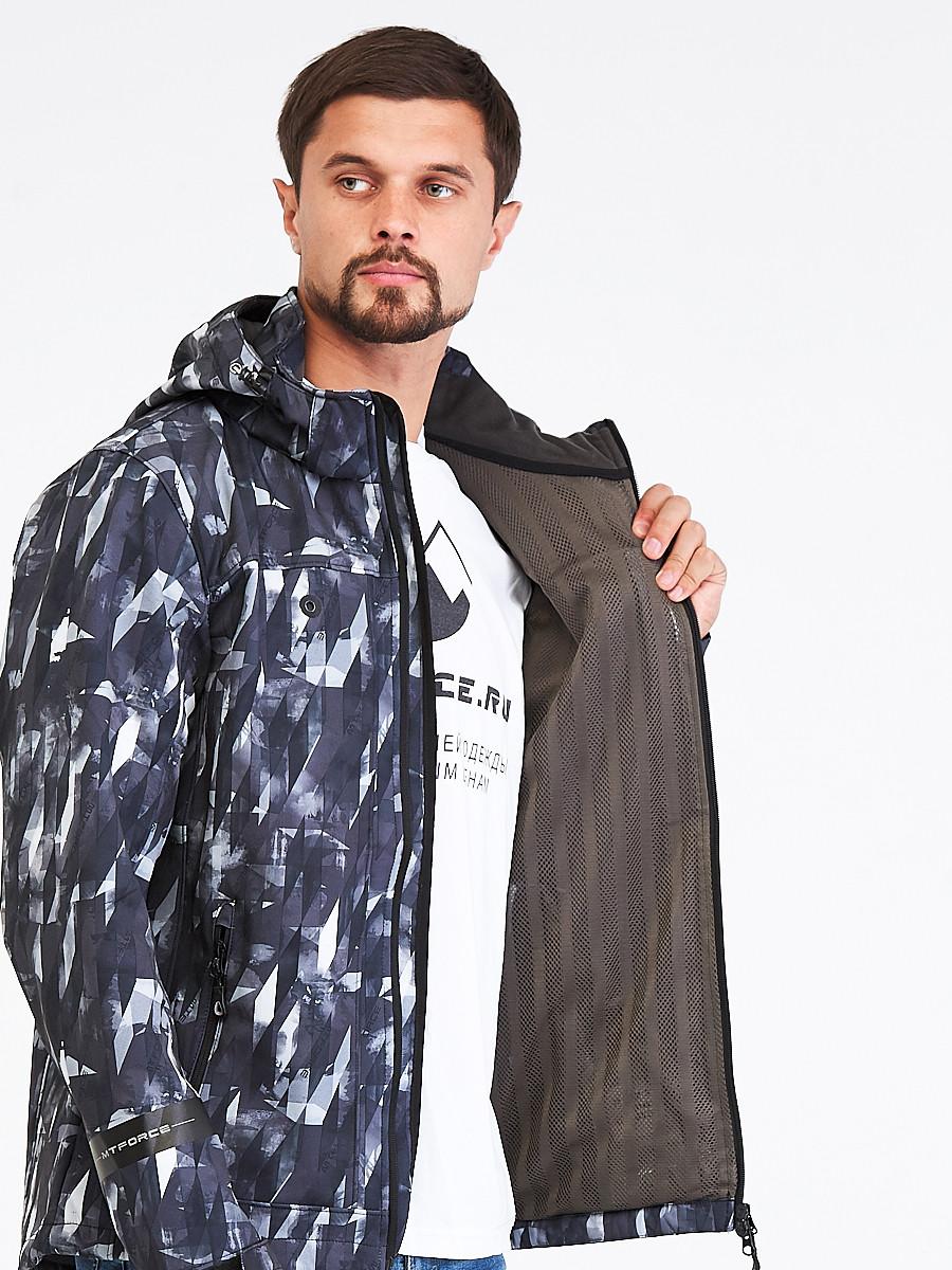 Купить оптом Ветровка softshell мужская серого цвета 1915Sr